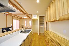 天然無垢の家 キッチン