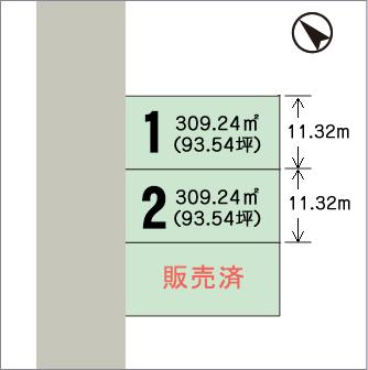 六郎丸区画図